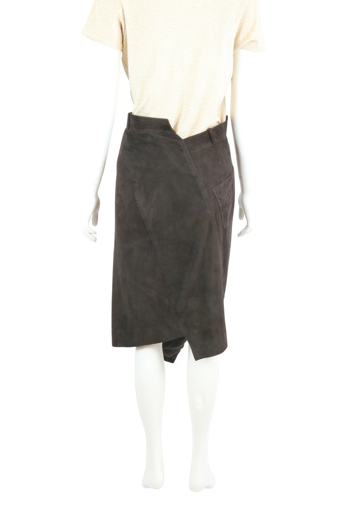Christian Dior Chocolate suede skirt