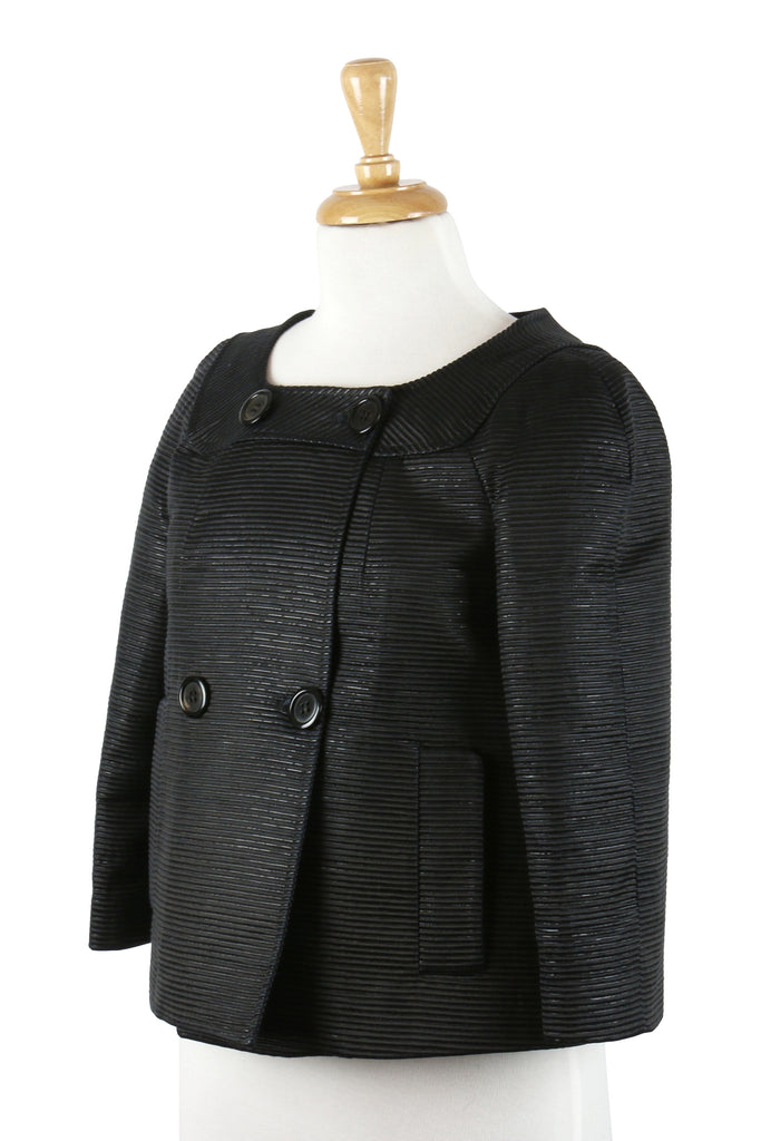 Gianfranco Ferre Black collarless jacket
