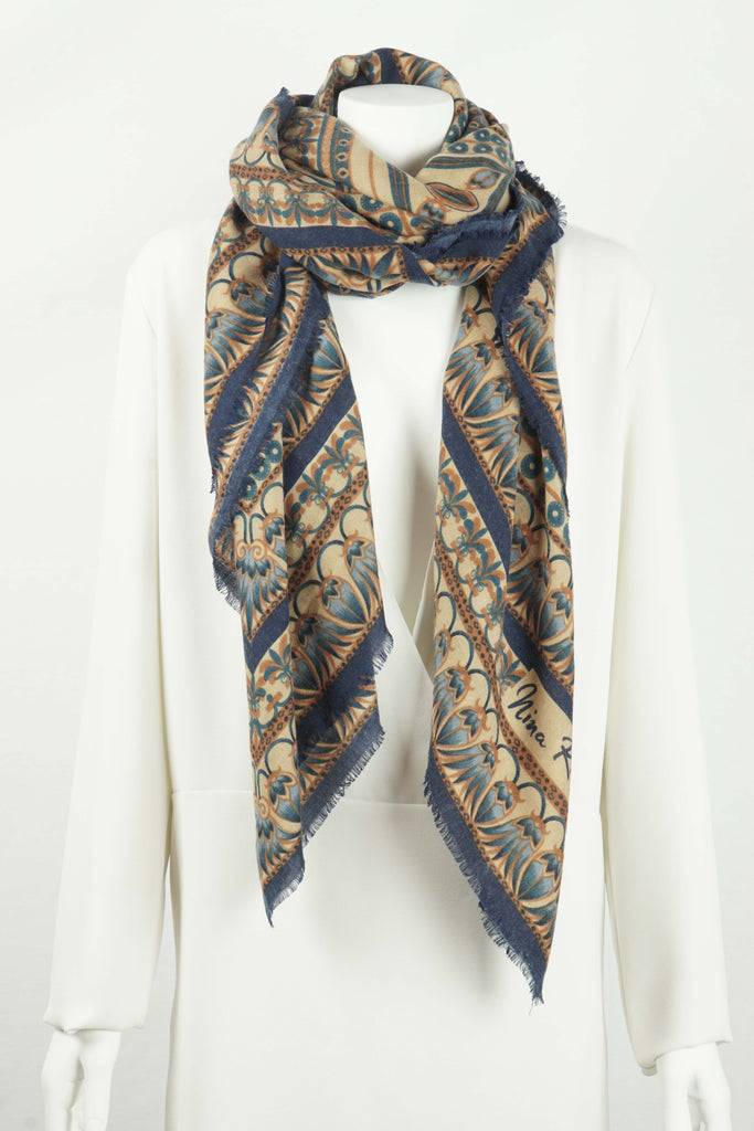 Nina Ricci  Cashmere and silk shawl in blues