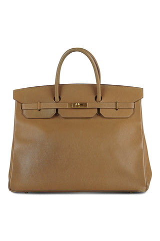 Birkin handbag in tan (40cm)