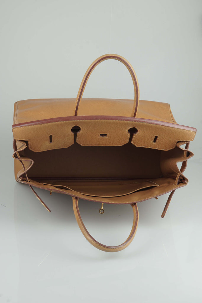 Hermes Birkin handbag in tan (40cm)