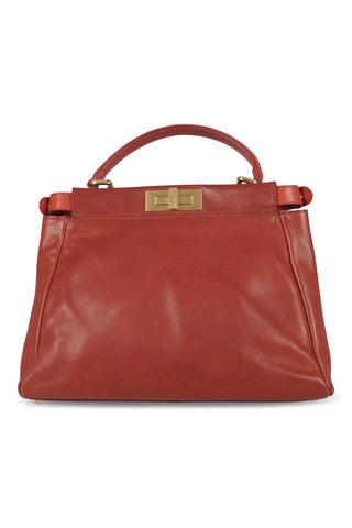 Peekaboo handbag in red