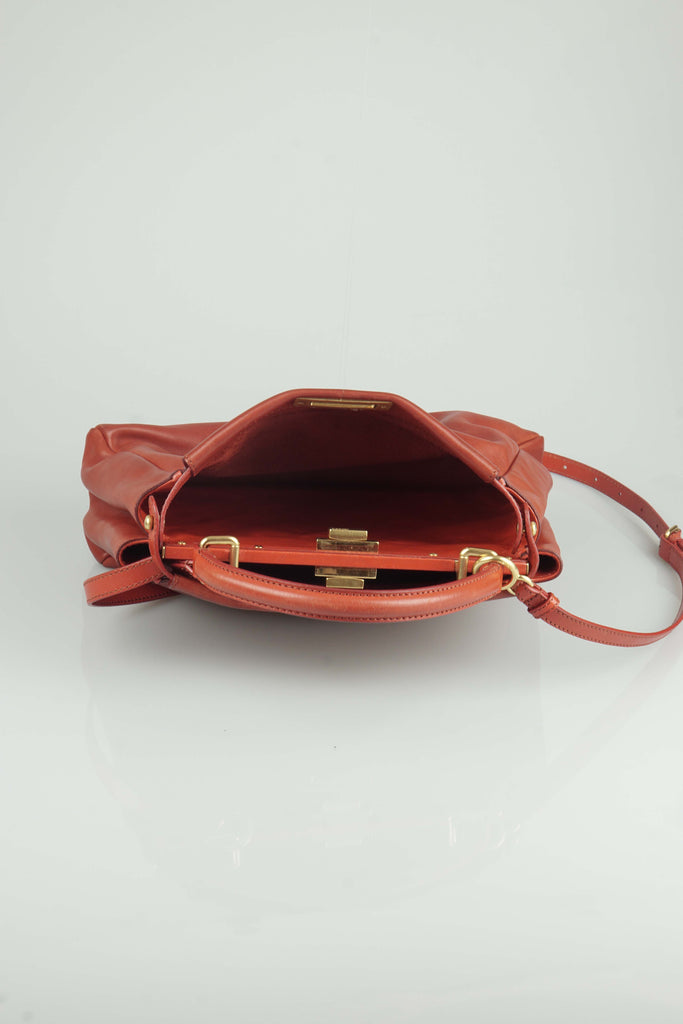 Fendi Peekaboo handbag in red