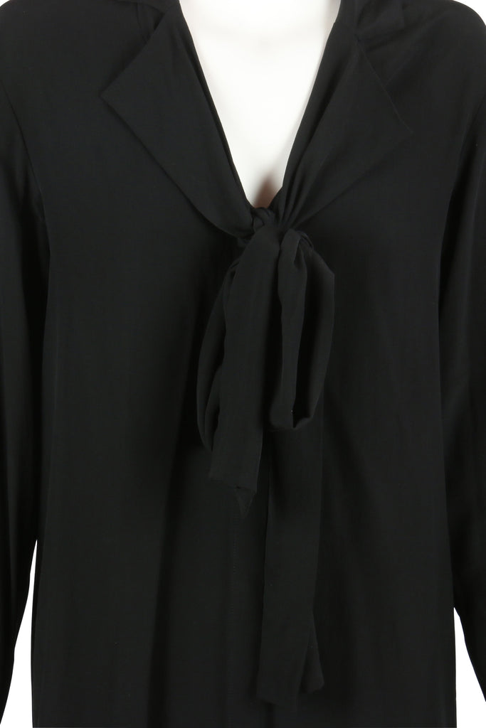 Acne Studios Black silk shirt dress
