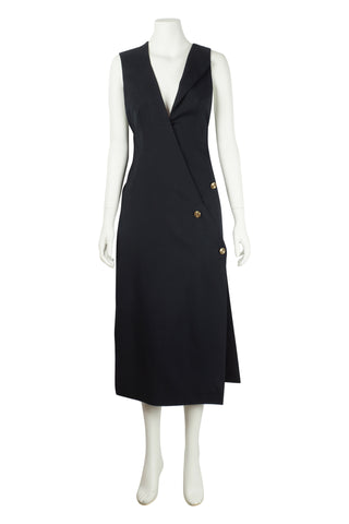 Navy asymmetric blazer dress