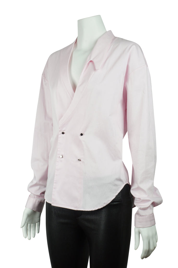Michael Lo Sordo Overlap cocoon shirt in pink