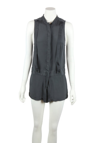 Grey silk playsuit