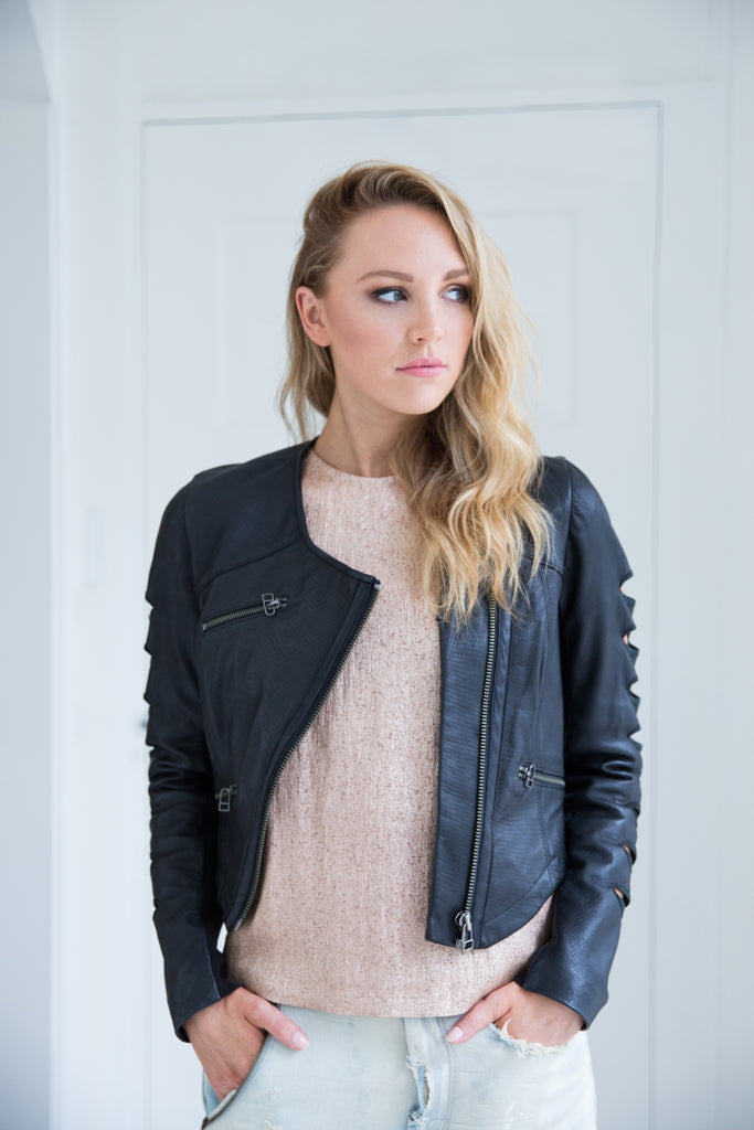 Ygal Azrouel NYC black leather biker jacket