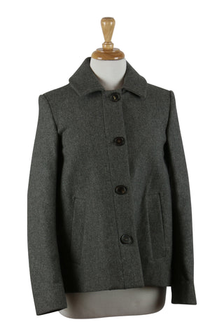 Grey woollen swing jacket