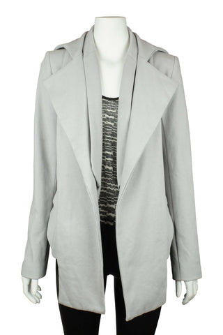 Grey jacket with detachable collar