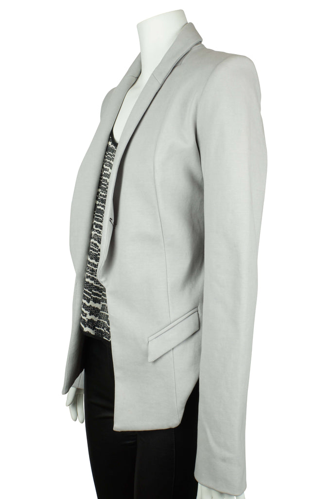 Dion Lee Grey jacket with detachable collar