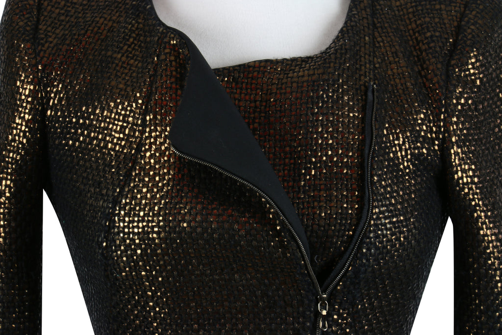 Willow Burnished gold zip jacket