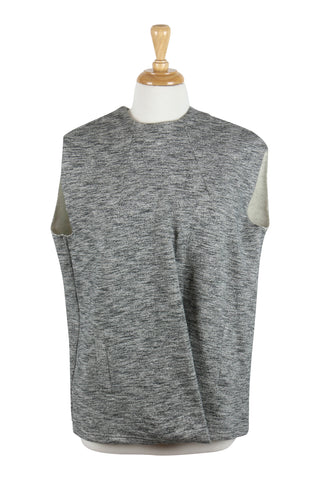 Sleeveless grey cotton top