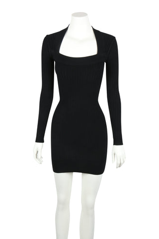 Black bodycon mini