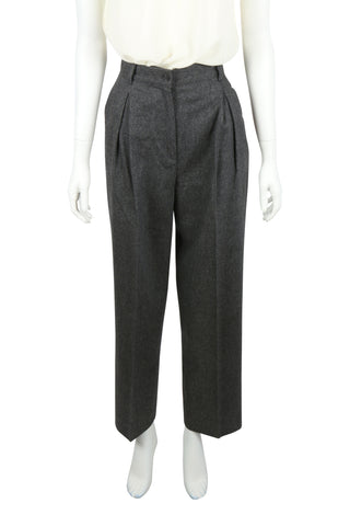 High waisted grey trousers