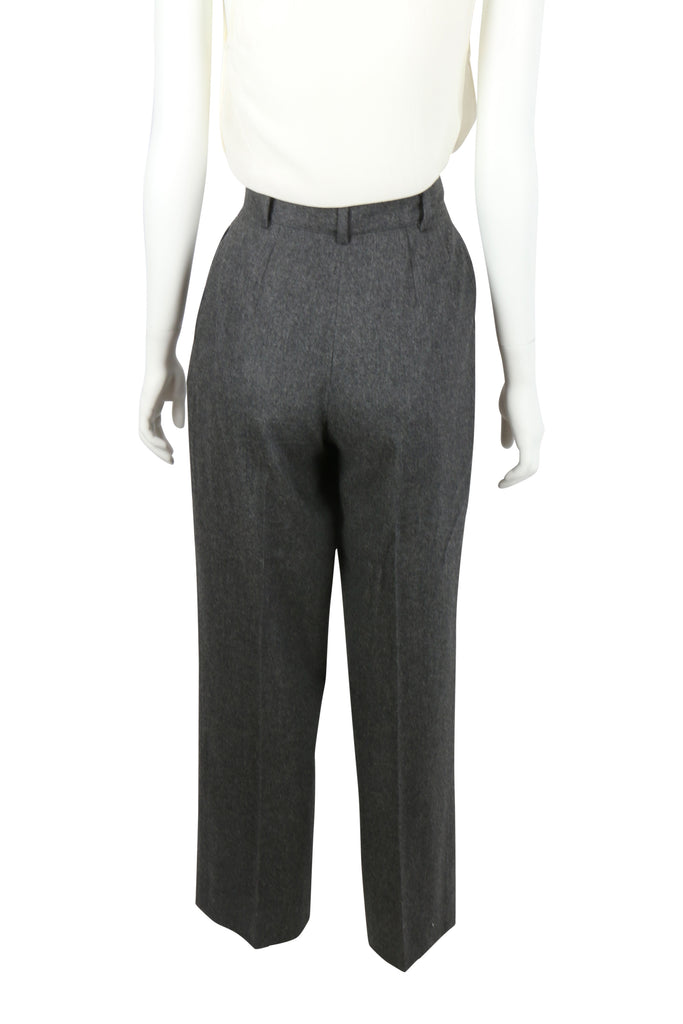 Valentino High waisted grey trousers