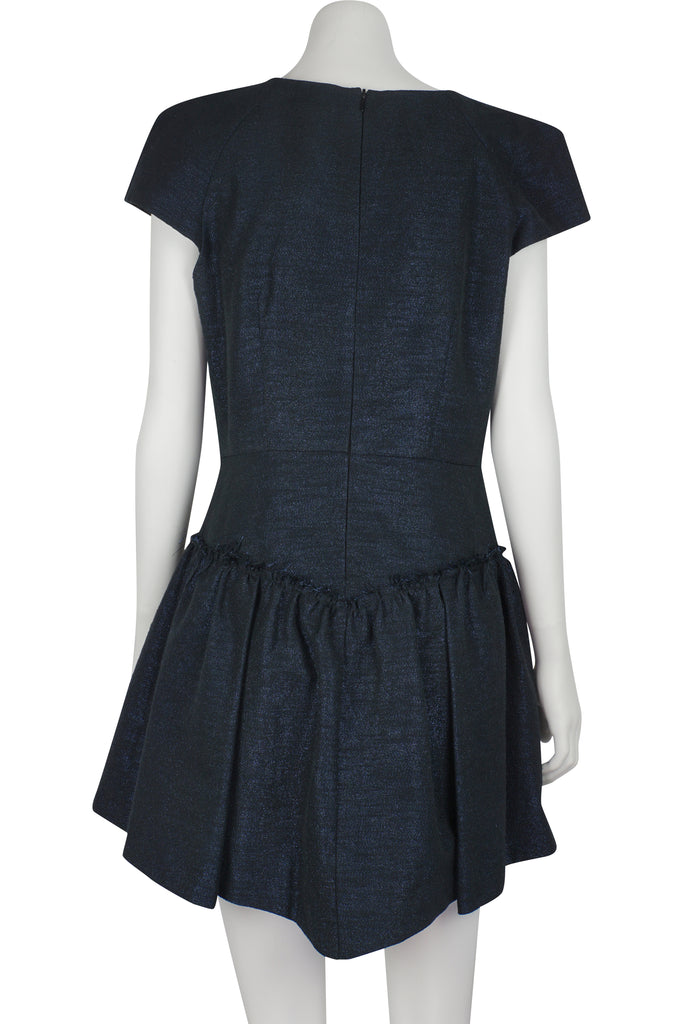 Therese Rawsthorne 200 Balloons navy lurex dress