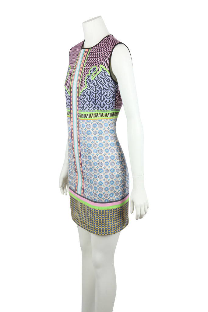 Clover Canyon Sleeveless mixed print dress