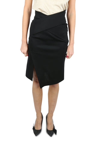 Black cut away bandage wrap skirt
