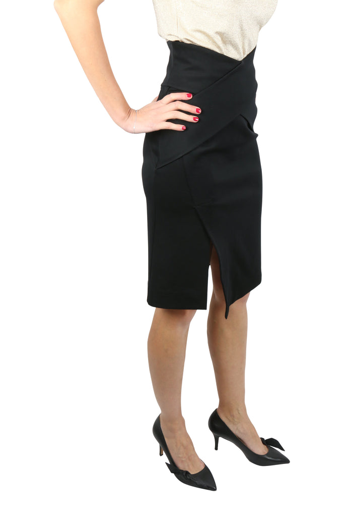 Josh Goot Black cut away bandage wrap skirt