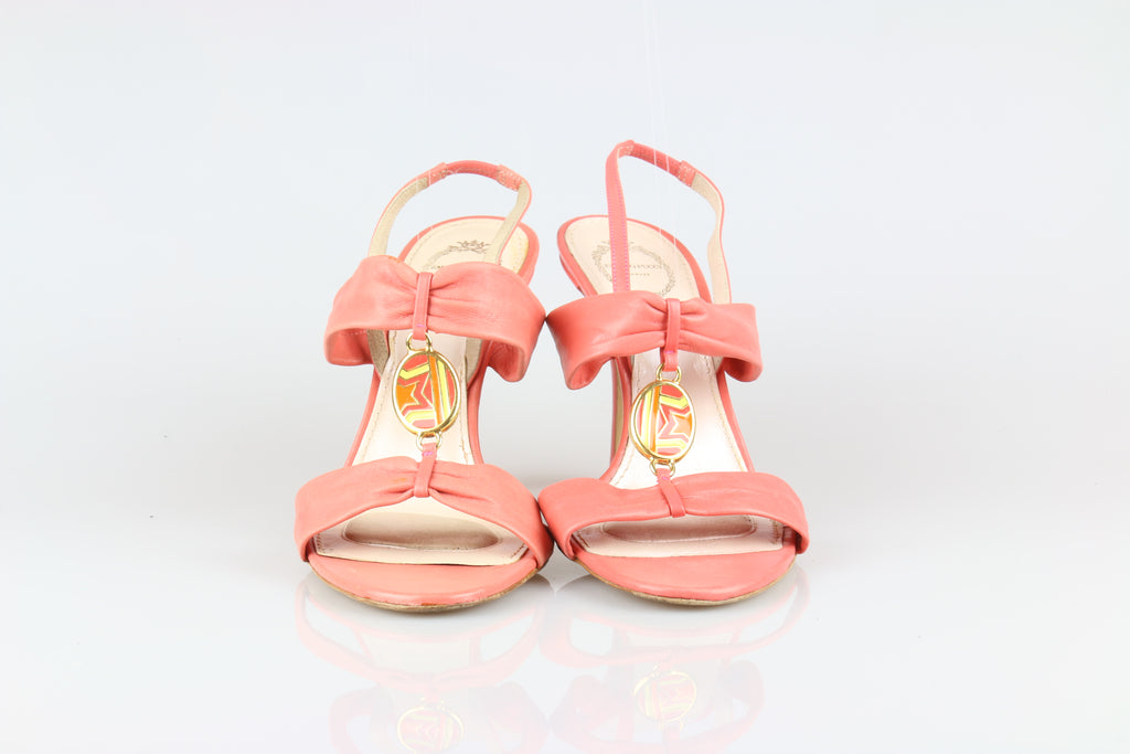 Emilio Pucci Coral leather sandals