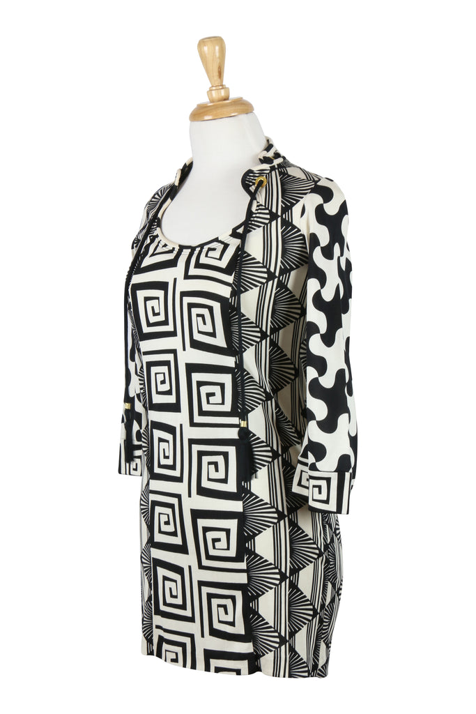 Diane von Furstenberg Black and white print dress