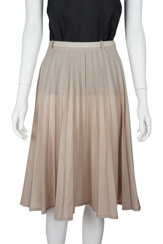 Pink sunray pleated skirt