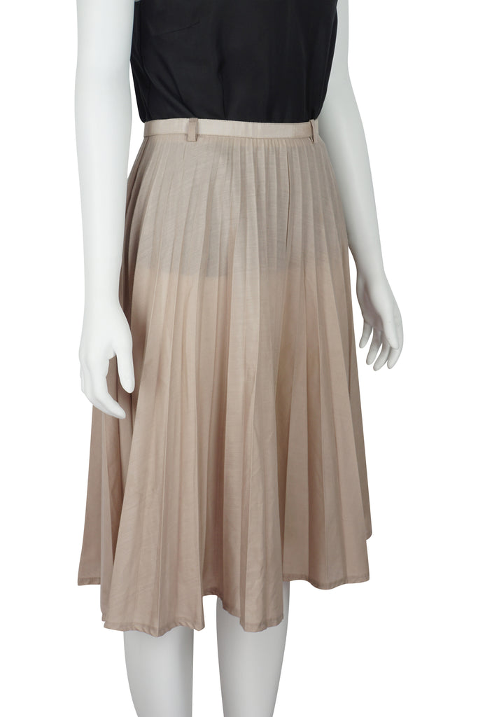 Karen Walker Pink sunray pleated skirt