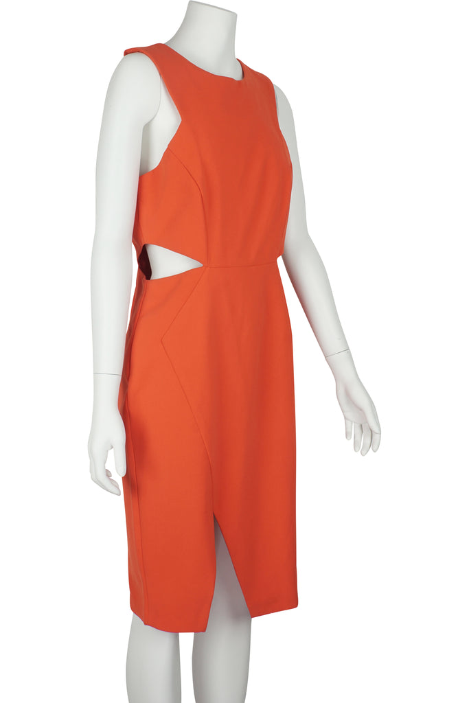 Wayne Cooper Tangerine cut-out waist dress