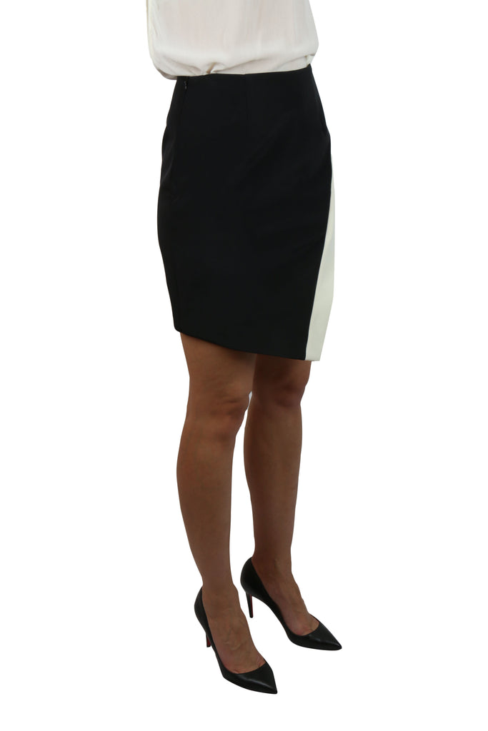 Nicholas Black and white asymmetric skirt