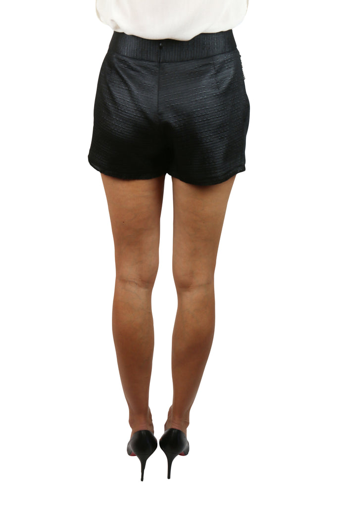 Willow Black fringed shorts