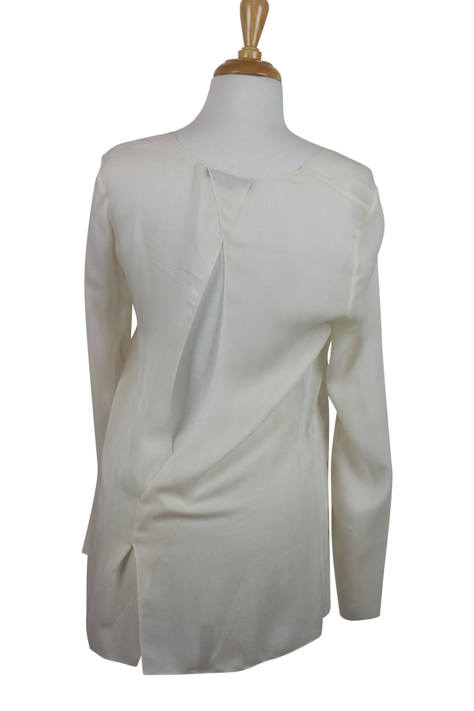 Alexander Wang Cream silk cross over blouse