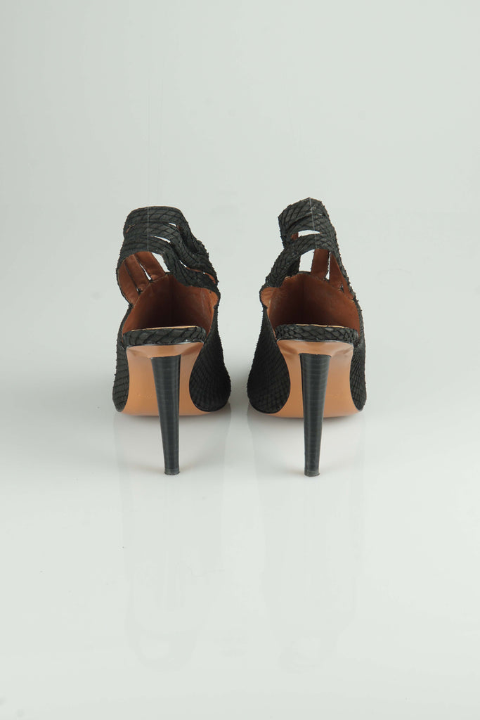 Elizabeth & James Black triple slingback mules