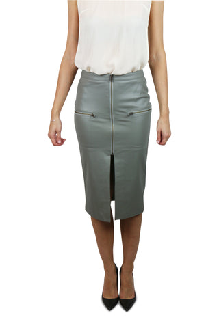 Riot girl leather skirt
