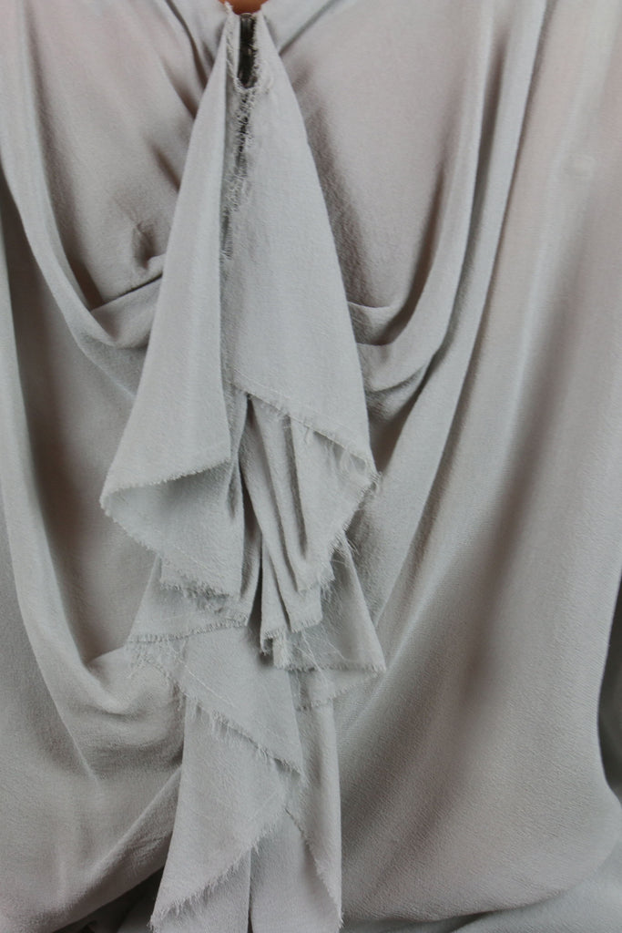Willow Grey silk batwing mini dress
