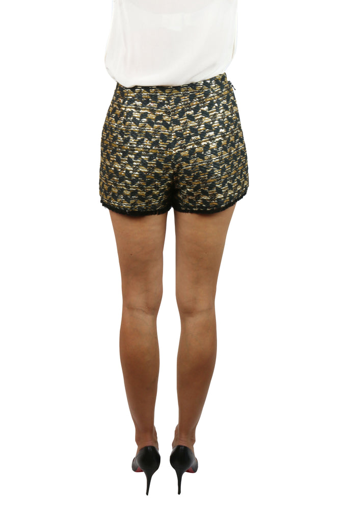 Willow Black and gold fringed shorts