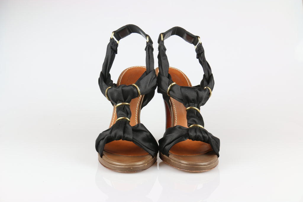 Lanvin Black satin sandals