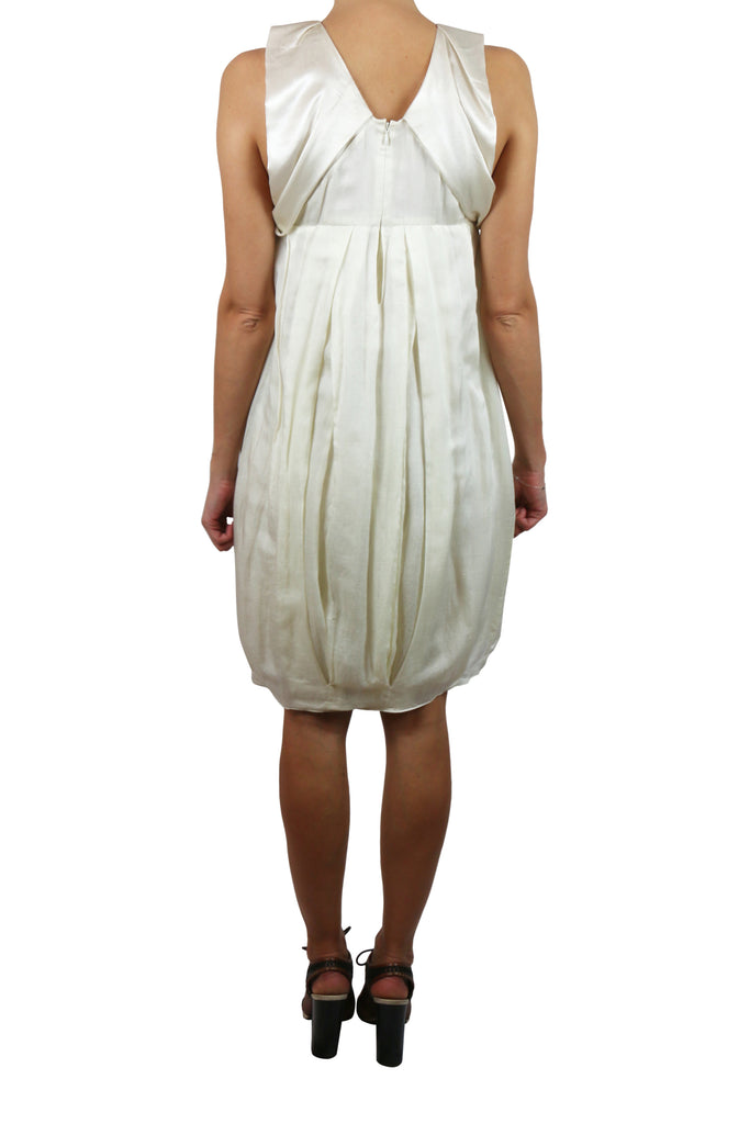 Vanessa Bruno (athé) cream ruffle dress
