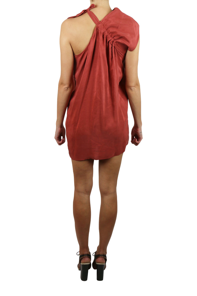 Zimmermann Silk shoulder-tie mini dress