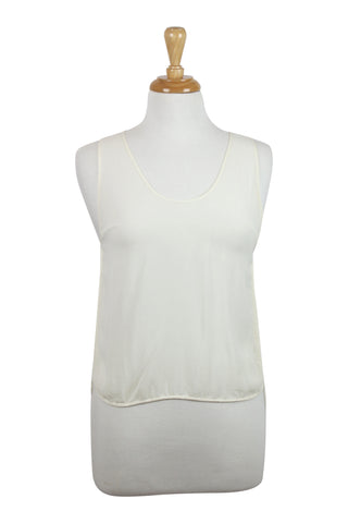 All occassions cream silk tank top
