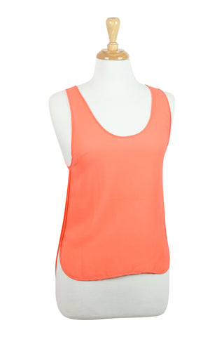 All occassions silk tank top in orange
