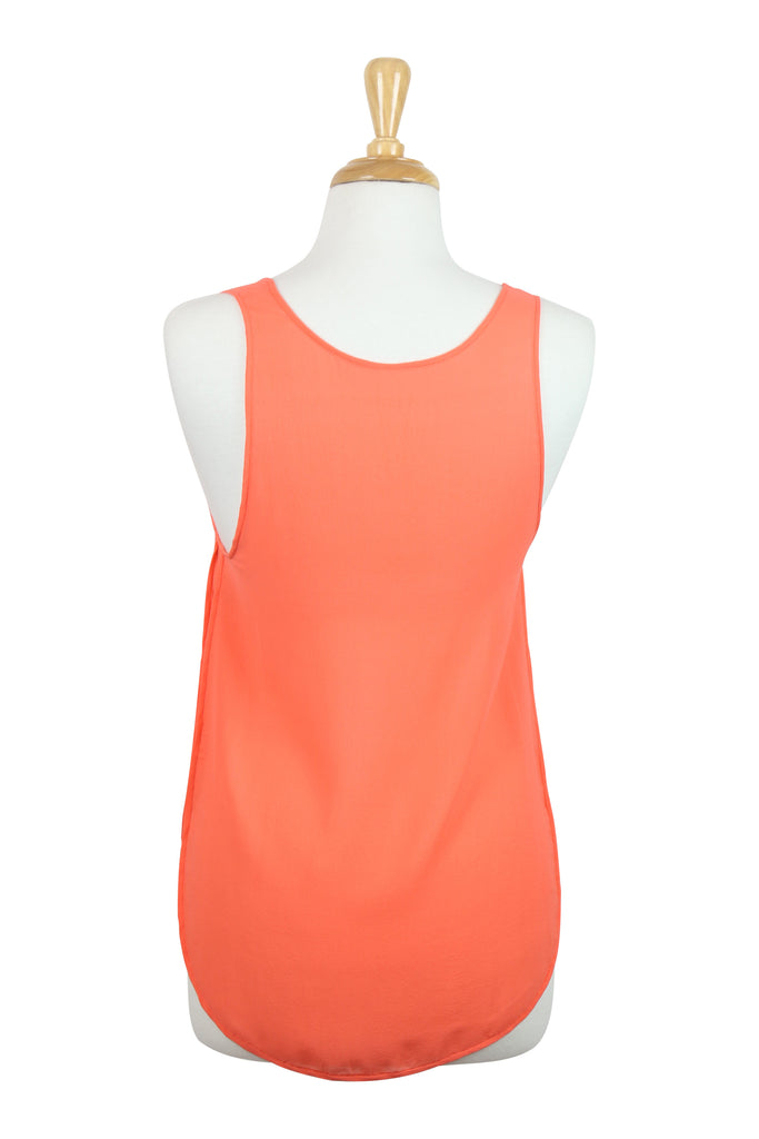 Willow All Occassions silk tank top in orange
