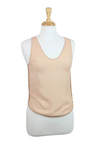 All occassions nude silk tank top