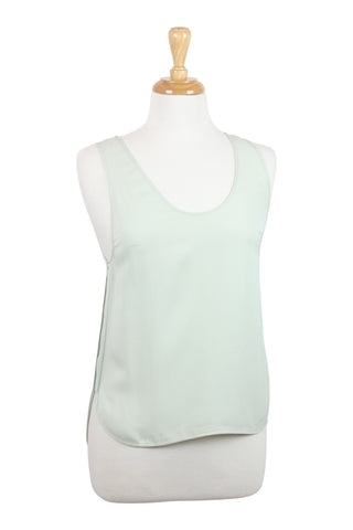 All occassion mint silk tank top