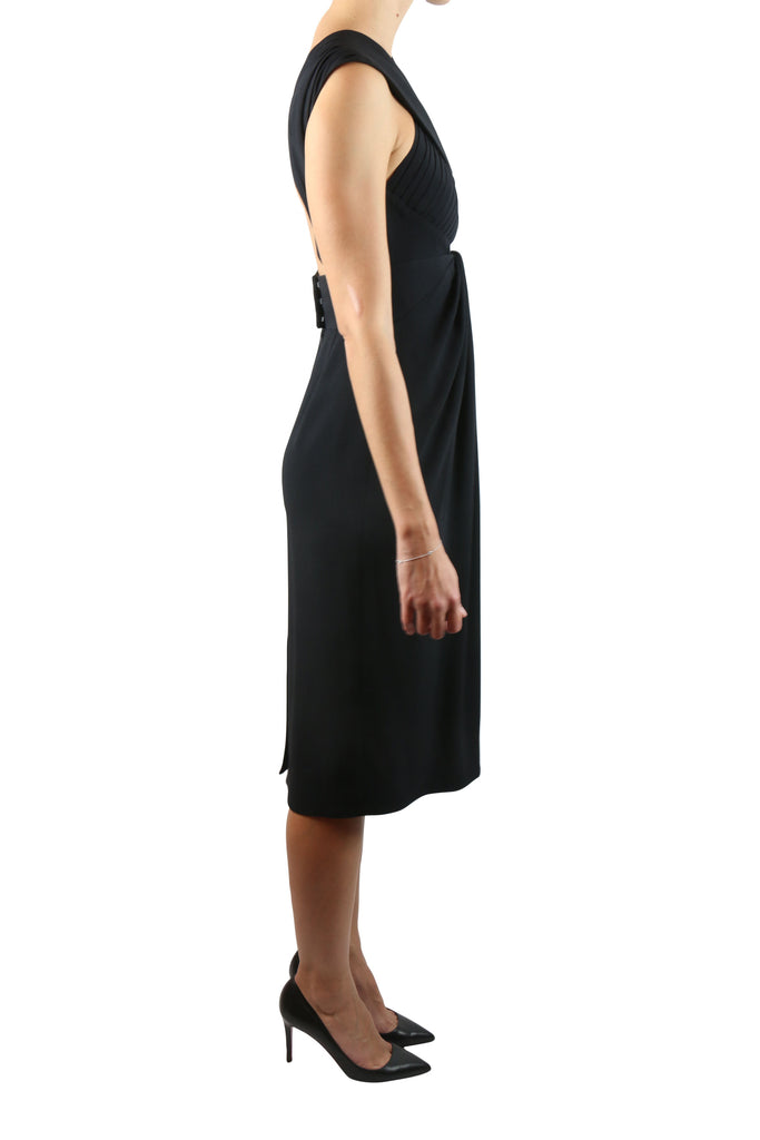 Proenza Schouler Black cross front dress