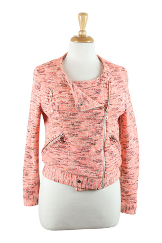 Pink cotton zip jacket