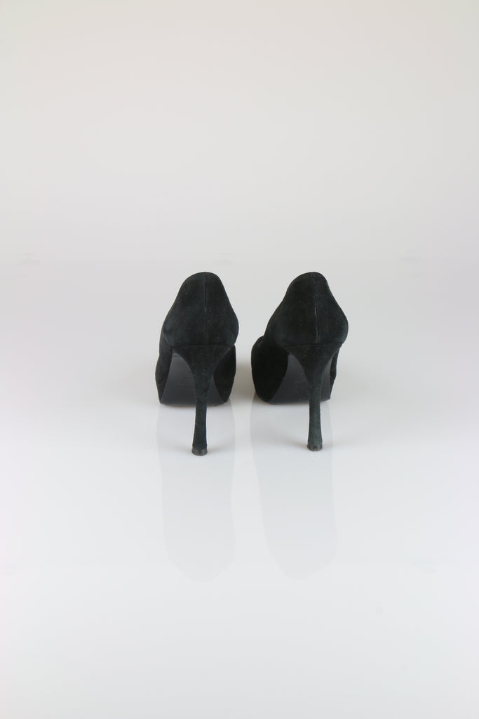 Saint Laurent Palais black suede heels
