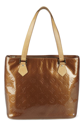 Houston lacquered bronze tote