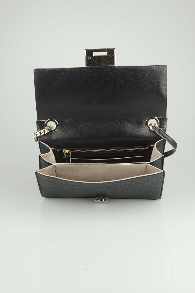 Jimmy Choo Rebel  (27cm) black shoulder bag
