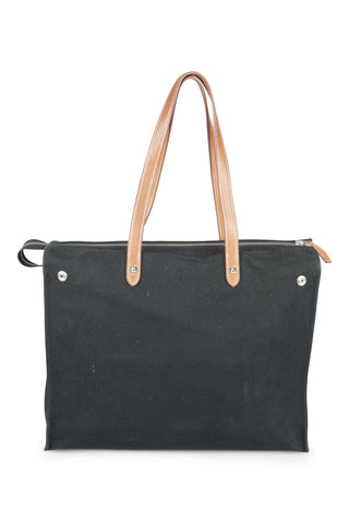 Mira black canvas vertical tote